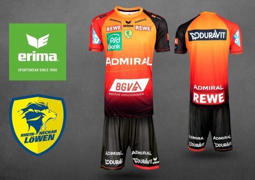 La nouvelle tenue des «Lions du Rhin » pour les meilleurs des meilleurs : ERIMA présente le maillot de Champions League des «Rhein Neckar Löwen»